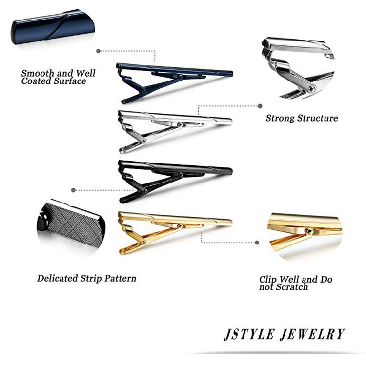 Wholesale Cheap Custom Brass Material Men Tie Clip With Custom Logo