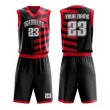 Professionelle sport uniform Hohe qualität sublimation reversible Ärmel basketball jerseys sets multicolor Kunden uniform