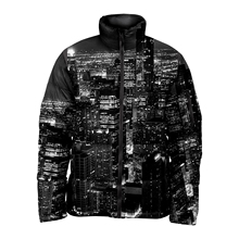 เต็มSublimatedที่กำหนดเองDark Night Sublimated Design Bubble Jacket Men