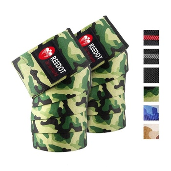Knee Wraps (Pair) - Power lifting, Weightlifting Wrap, Strength Training Compression & Elastic Support