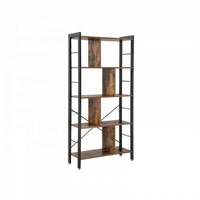 Industrial Bookshelf, Wooden iron metal Bookcase