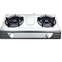 Gas stove parts 2 burner cast iron stainless steel gas cooker