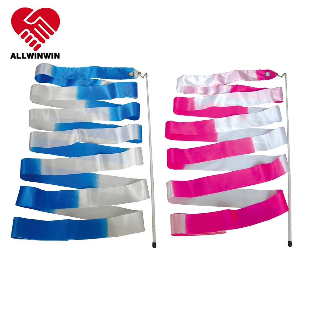 Allwinwin Rgr10 Rhythmic Gymnastics Ribbon - Bicolor 4/5