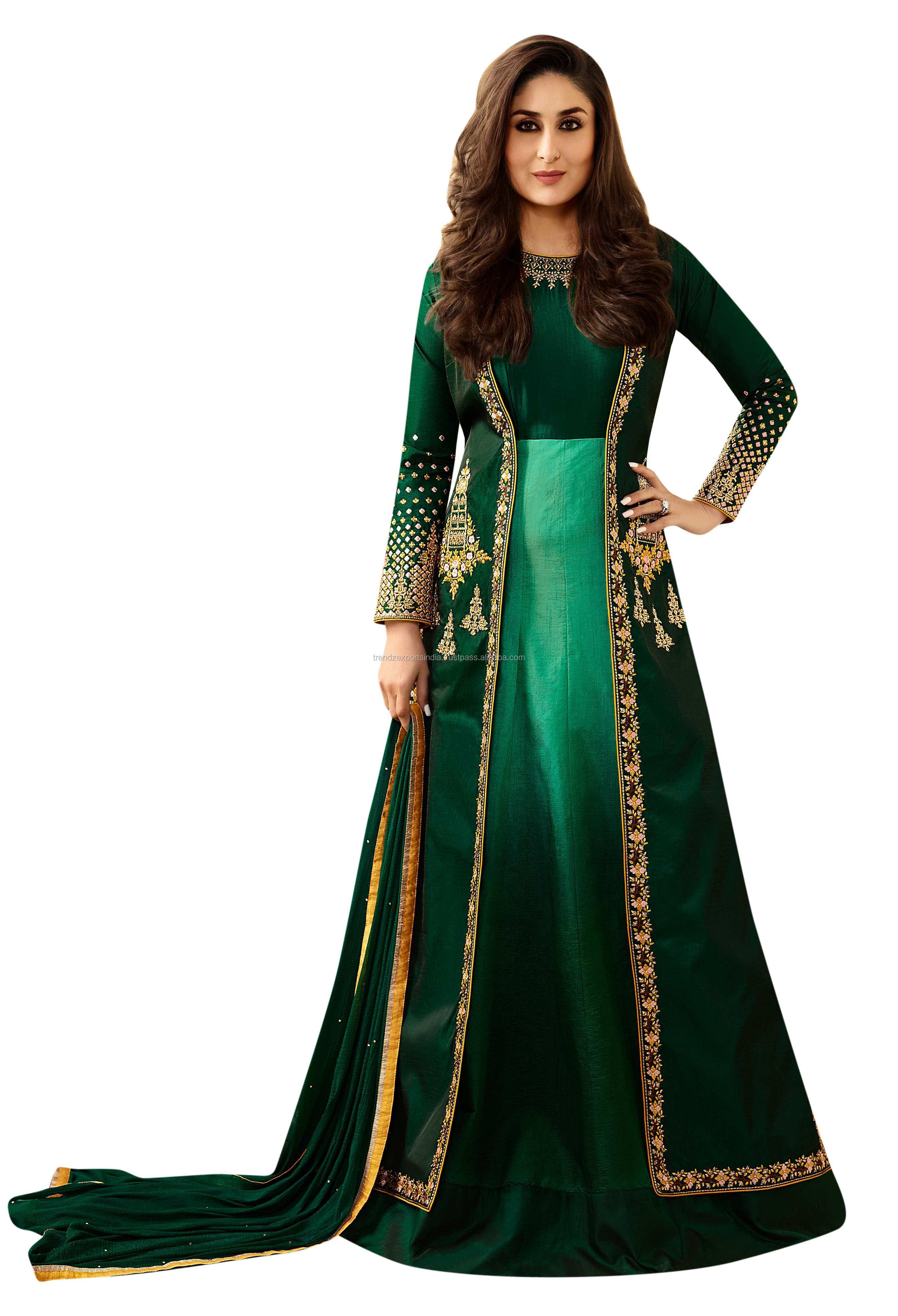 Son tasarım Anarkali elbise kız hindistan