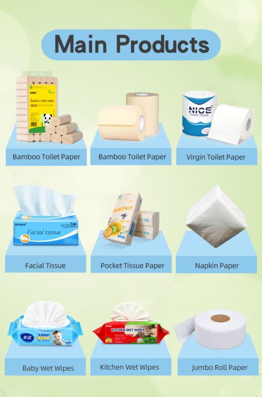 Respetuoso del medio ambiente de 500 hojas en blanco con logo en relieve de tejido de toalla de mano de rollo de papel