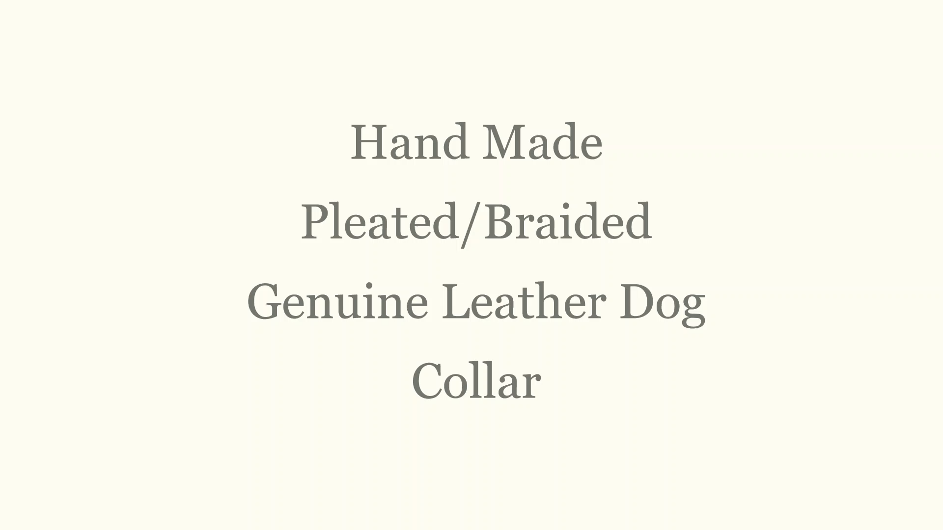 Hand braided Leather collar