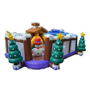 small funny indoor kid bouncer Christmas inflatable playground