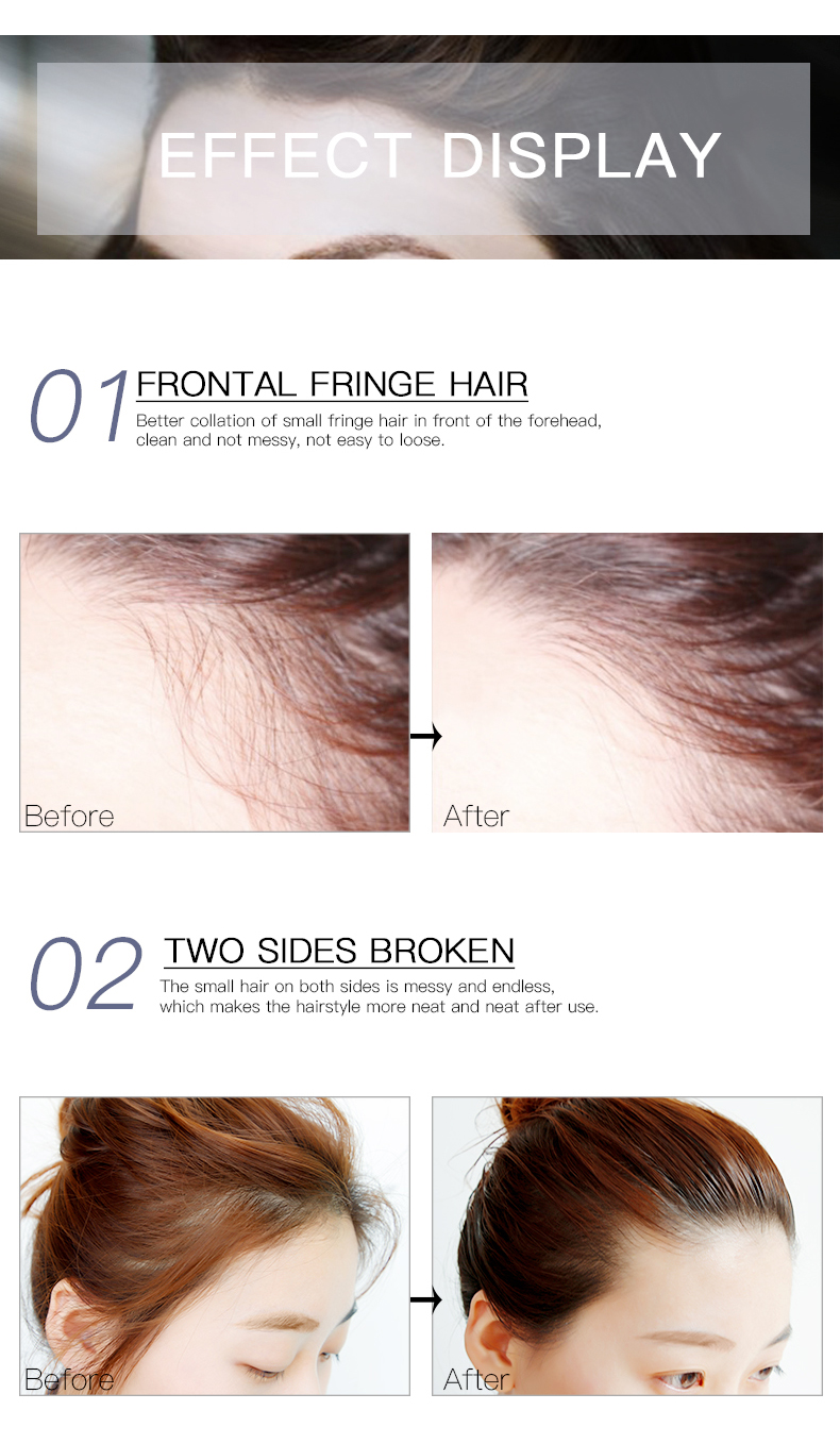 OEM custom broken hair finishing sticks private label hair styling gel with small MOQ