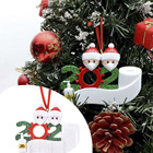 2020 Mini Personalized Resin Christmas Decoration Family Of 4 Felt Christmas Ornaments For Tree