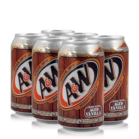 A&W Root Beer Soda 355ml Can