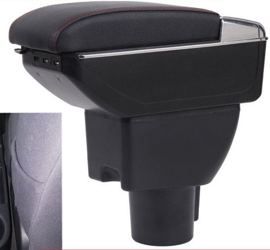 New design black <strong>Car</strong> <strong>Center</strong> <strong>Console</strong> Armrest Storage Box Leather ArmRest For Hyudai Getz