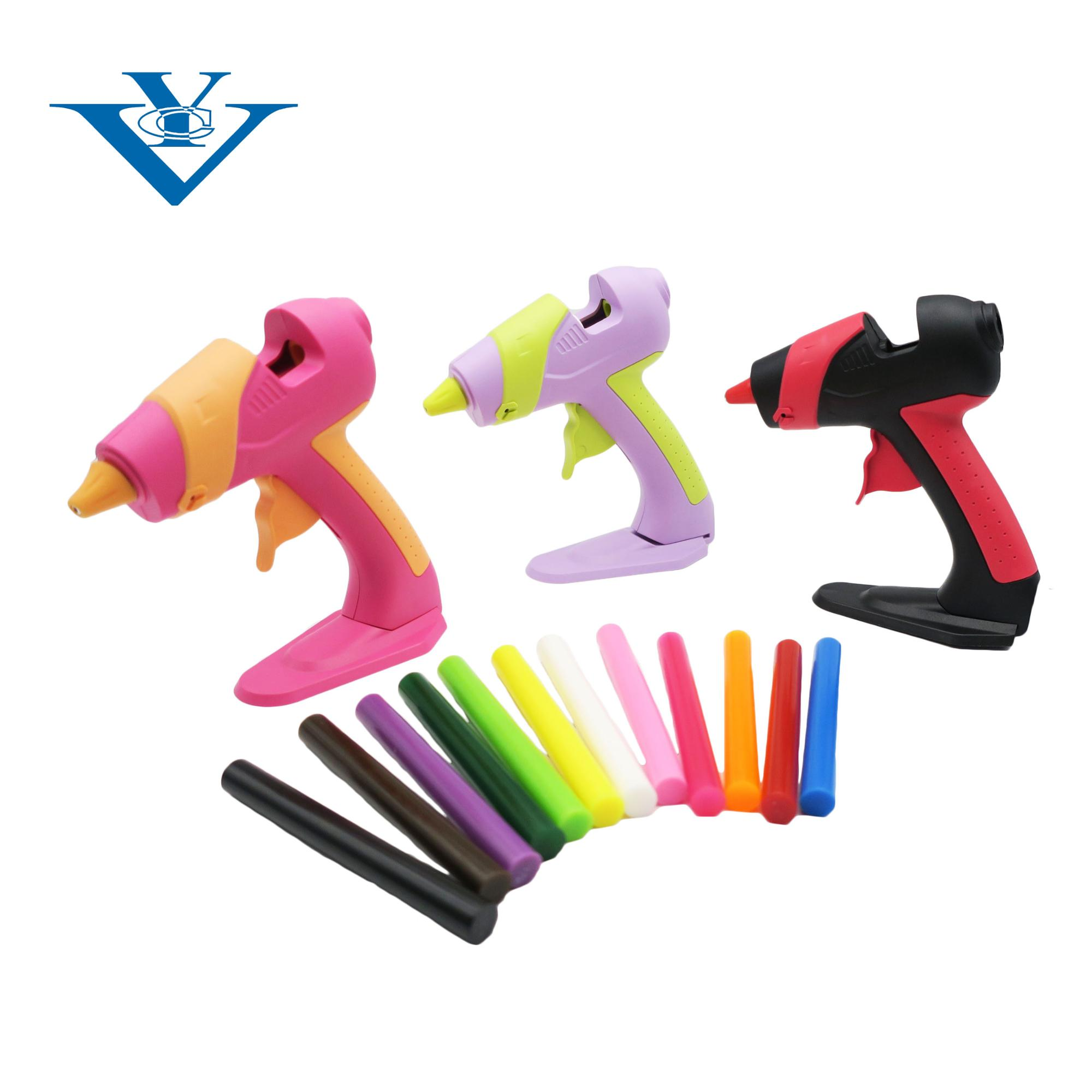 Hot Melt Glue Gun con Silicone Bar Colla Stick Set