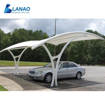 Outdoor Metal Garage Canopy Design Modern Carport Tents Attached To House Arched Roof Waterproof Car Parking Shelters For Sale View Car Parking Shelters Lanao Membrane Structure Product Details From Guangzhou Lanao Membrane