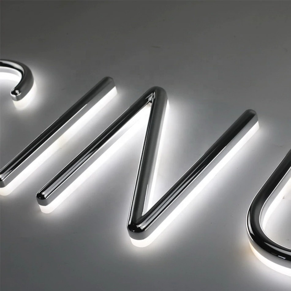 Factory Outlet Outdoor Brightest led resin letter lights sign for illuminated signage letters