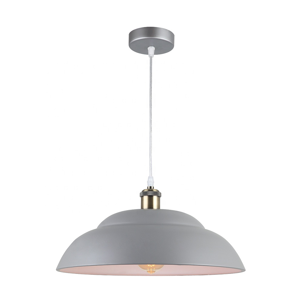 nordic style E27 E26 iron grey contemporary pendant lamps,american hanging light for kitchen counter