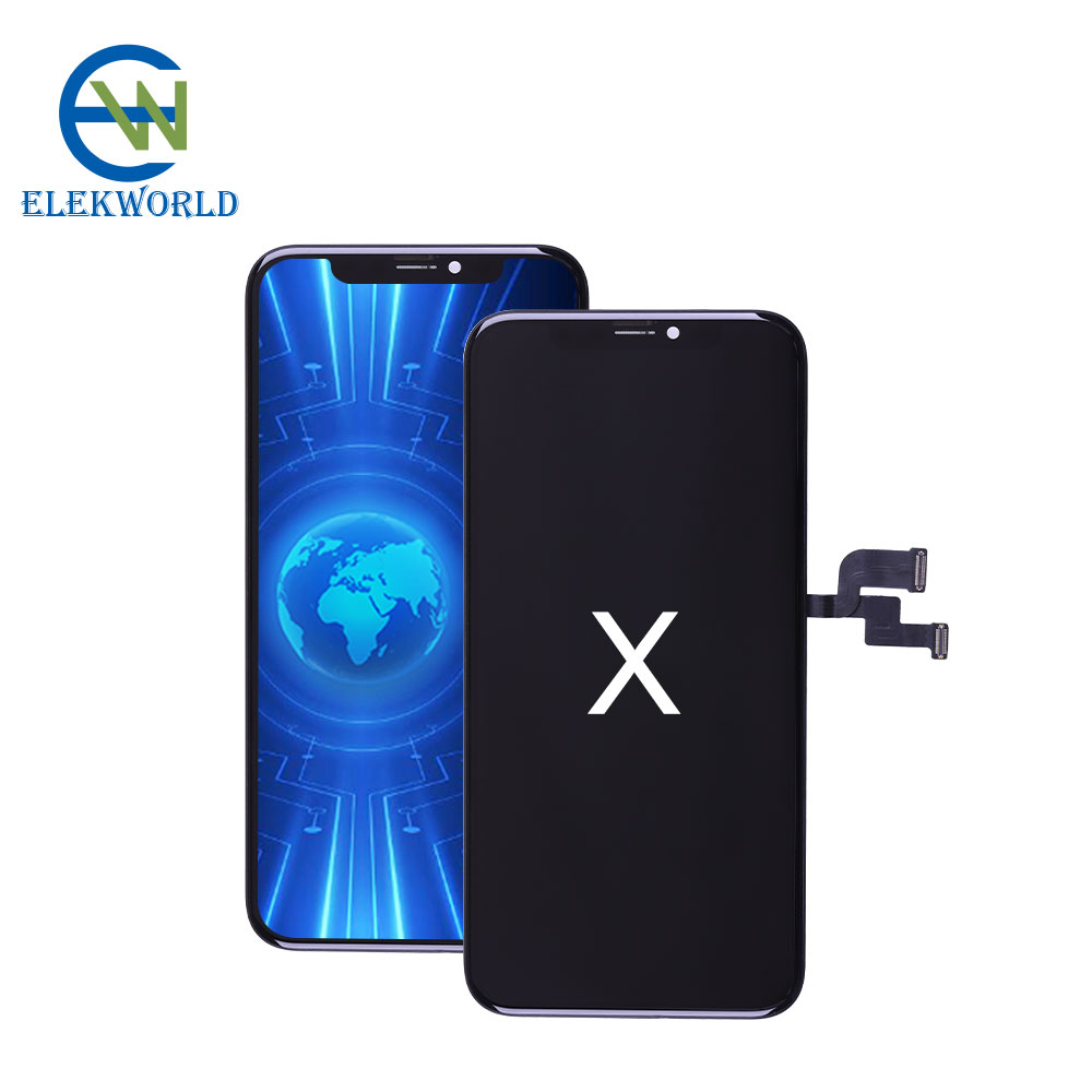 Elekworld Wholesale Price Rigid OLED for apple <strong>iPhone</strong> X LCD Display Touch Screen with Digitizer Replacement