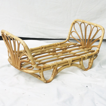 Cute rattan bed for baby doll handmade in Vietnam