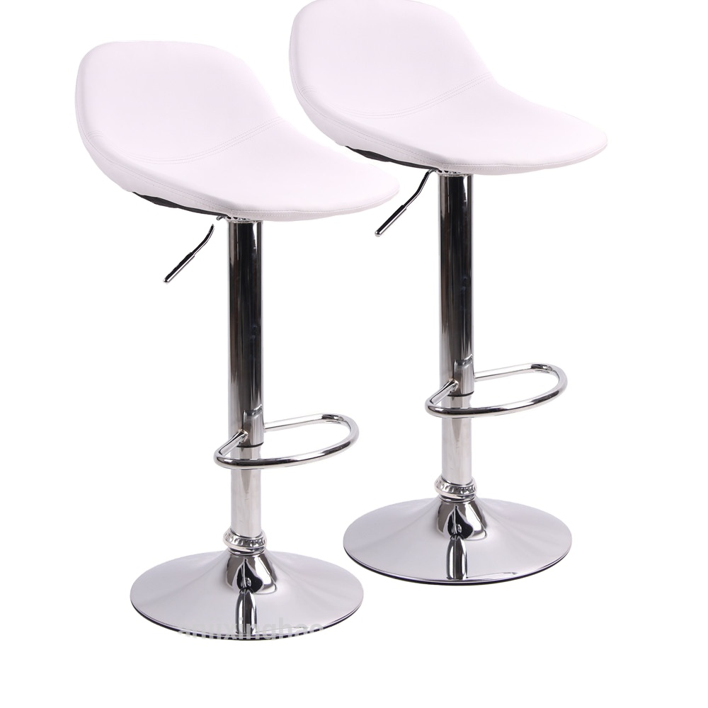 2020 Wholesale Adjustable PU Swivel Barstools with Back for Home Bar Kitchen Counter