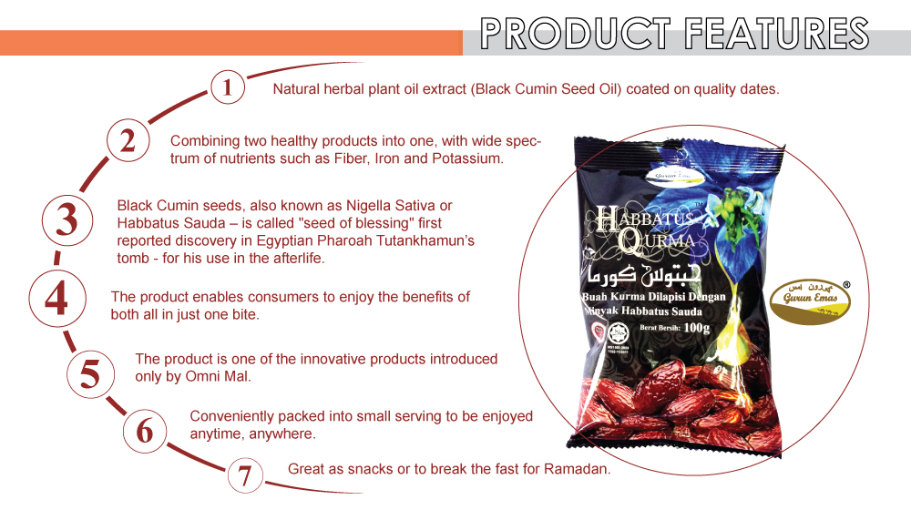 Less Sugar Fruit Black Date With Herbal Plant Extract Black Cumin Seed Oil