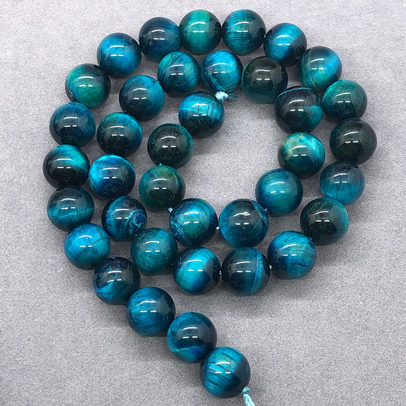 Color Cheap Natural Round Tiger Eye Beads 10mm, Blue Tiger Eye Beads for Jewelry Making 4mm 6mm 8mm 10mm 12mm