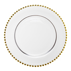 Modern Hot Selling Ready To Ship Event Wedding Decorative Porcelain Gold Charger Plate*