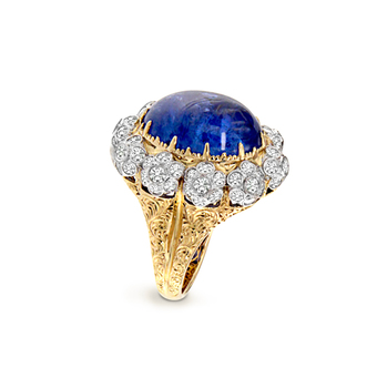 18K Yellow Gold Tanzanite Ring Jewelry Women