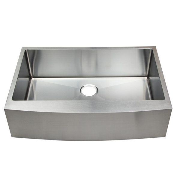 33 Inch Farmhouse / Farm Style / Country Style Single Bowl Stainless Steel Kitchen Front Apron Sink, AS-R3322