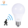 smart radar microwave motion sensor A60 energy saving cfl lamp housing 110v 220v E27 B22 5w 7w 9w led light bulbs