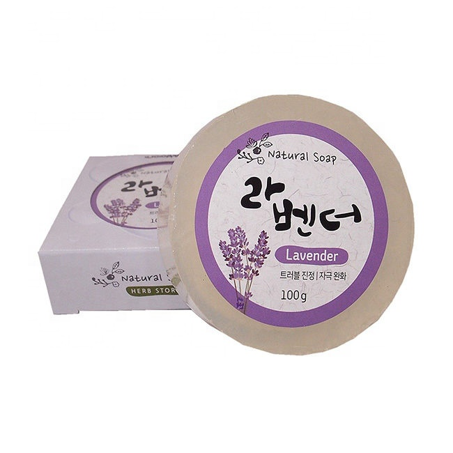 HERB STORY-NATURAL HERBAL SOAP - LAVENDER 100G - Made in Korea