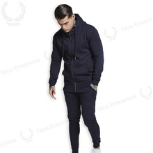 Spier <span class=keywords><strong>spar</strong></span> zip through hoodie navy trainingspak groothandel sweatsuit voor heren