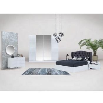 Modern White Wooden Bedroom Furniture