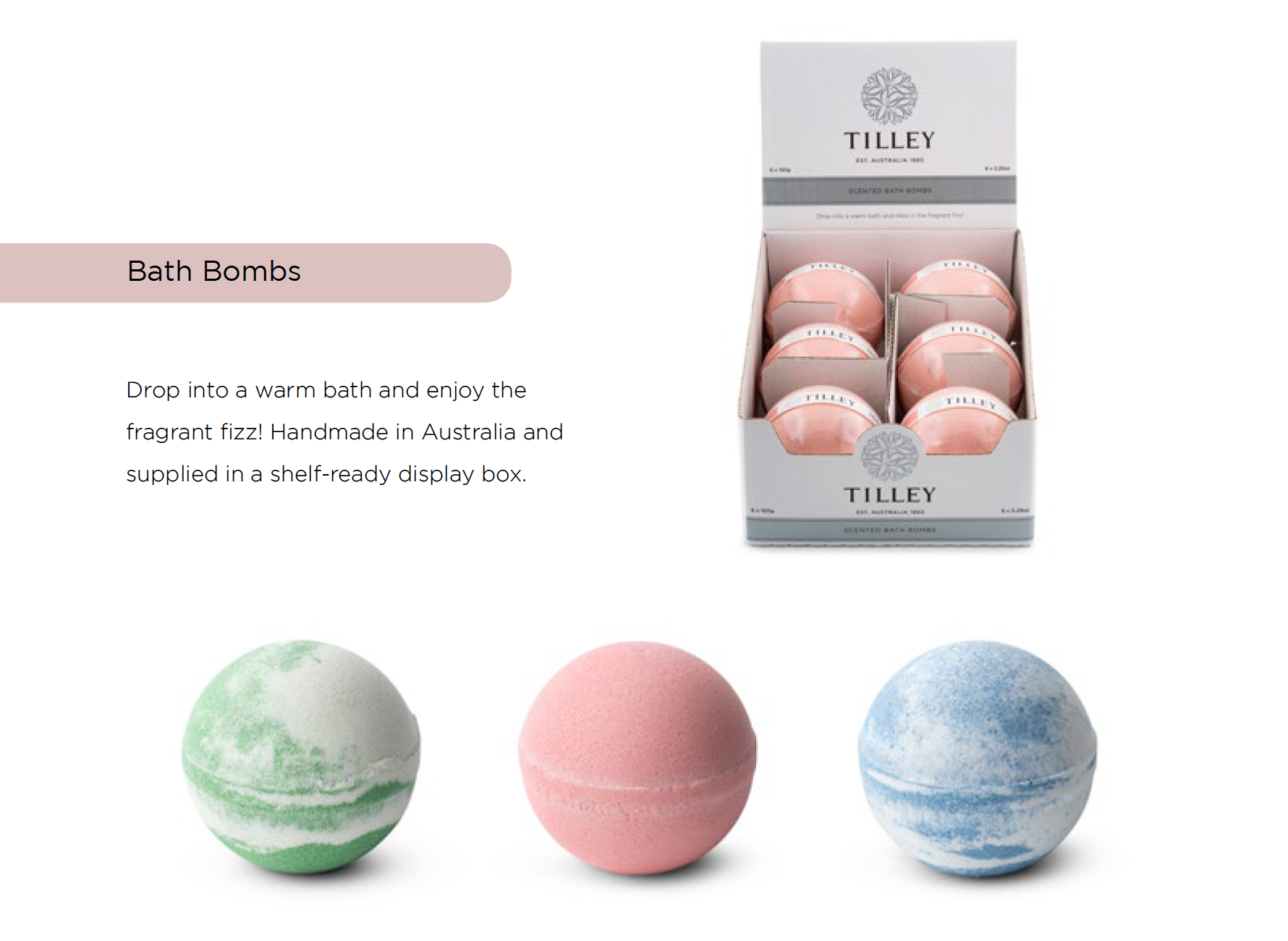 TILLEY-Bombe Da Bagno 150g-Fragrante Fizz-Bagno Fizzies-Classic White Collection-Bath & Body
