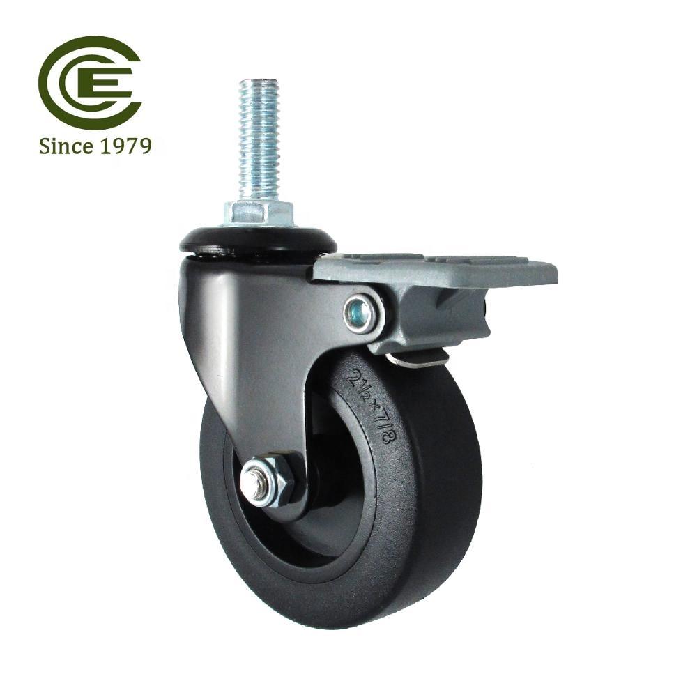 4 X 50mm//5cm Pivotant//roulettes//Roulettes caoutchouc industriel Qualité