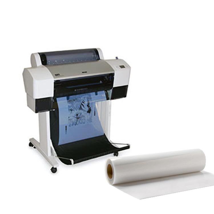 Водонепроницаемая ПЭТ на основе положительного трафаретной печати струйная прозрачная пленка для струйного плоттера