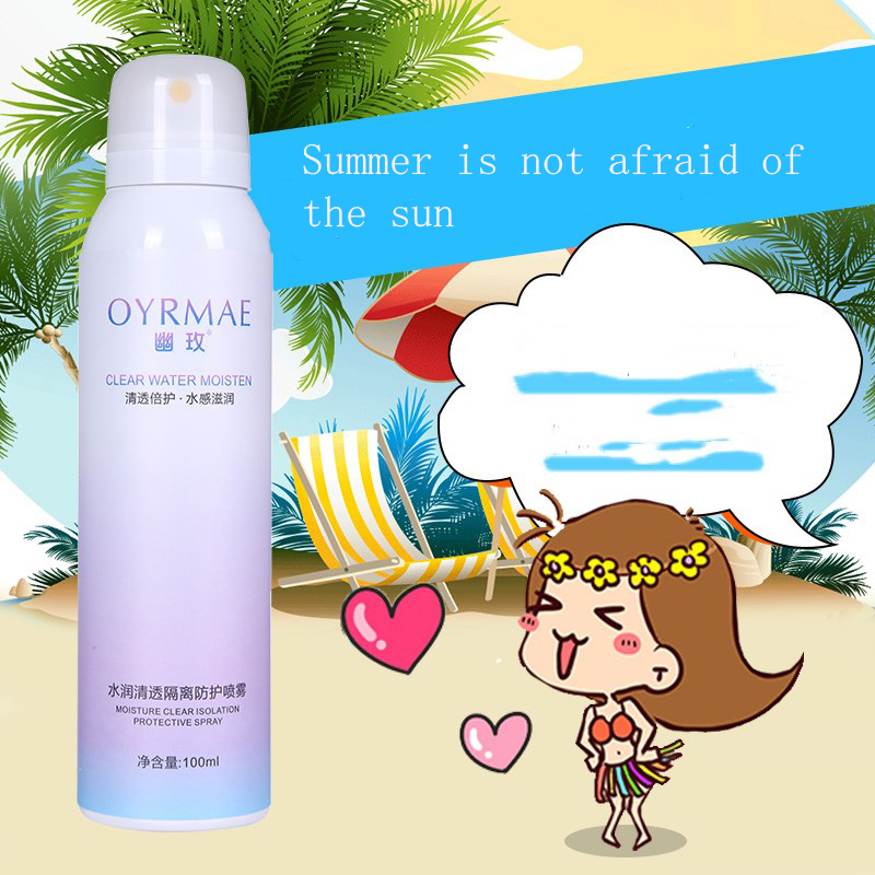 Moisturizing sunblock natural organic isolate UV whitening waterproof <strong>Sunscreen</strong> spray