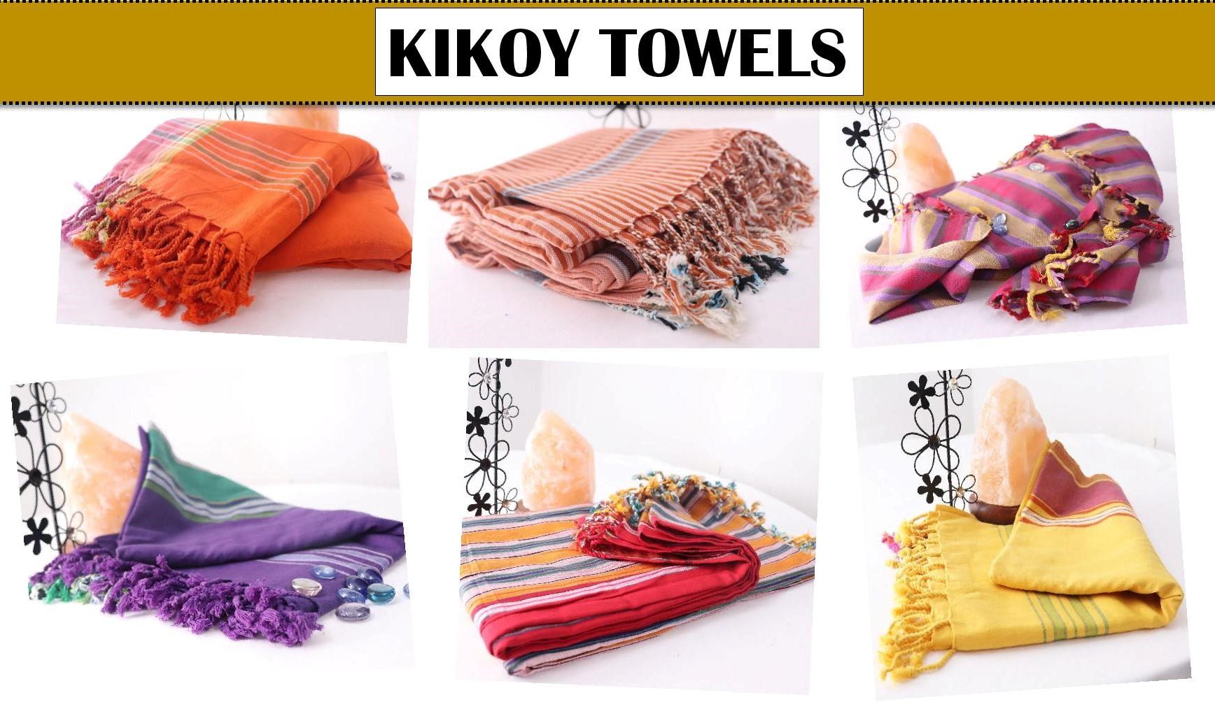Promotional kikoy towel with bag