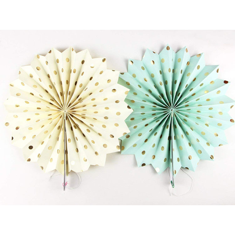 Nicro Wedding Birthday Decoration Colorful Party Hanging Paper Fans Set