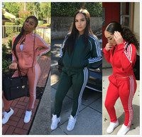 Hot selling women's leisure suit workout sport clothes jogging suits for gym wear women Sportswear suit