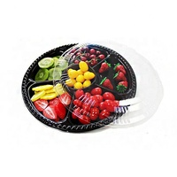 Custom transparent plastic fruit insert tray blister packaging tray with dividers