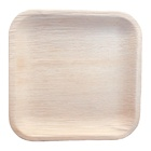 10 Square Bamboo disposable Plates -Compostable-Export Quality-Set of 20 Plates and 20 Areca Spoon packed in a carton box
