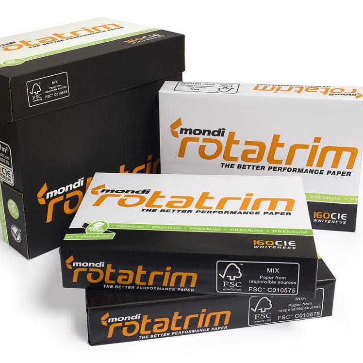 A4 กระดาษผู้ผลิต Mondi Rotatrim พันธบัตรสีขาวกระดาษ A4