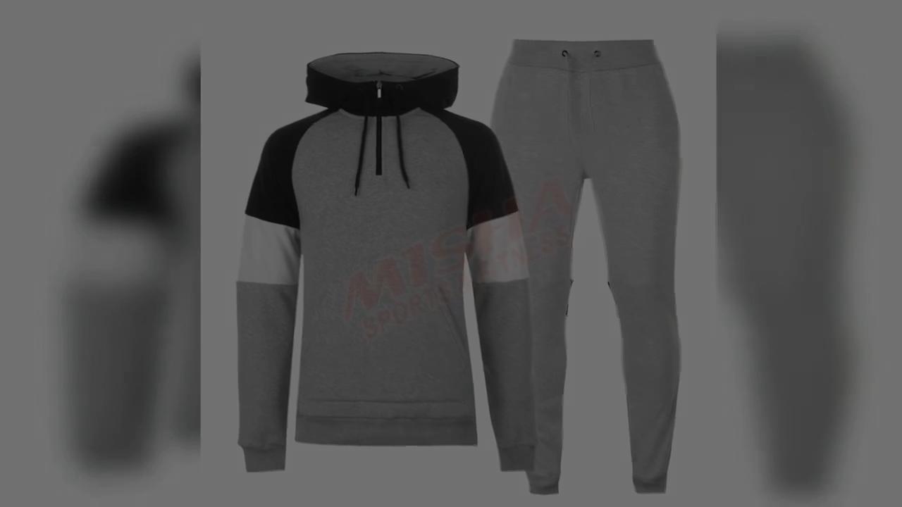Custom Wholesale Blank Gym Fitness Jogging Tracksuit For Men
