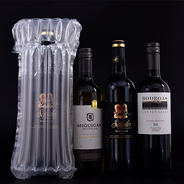 Air Cushion Inflatable Plastic Wrap Air Column Bubble Bags For Wine Bottle Protector