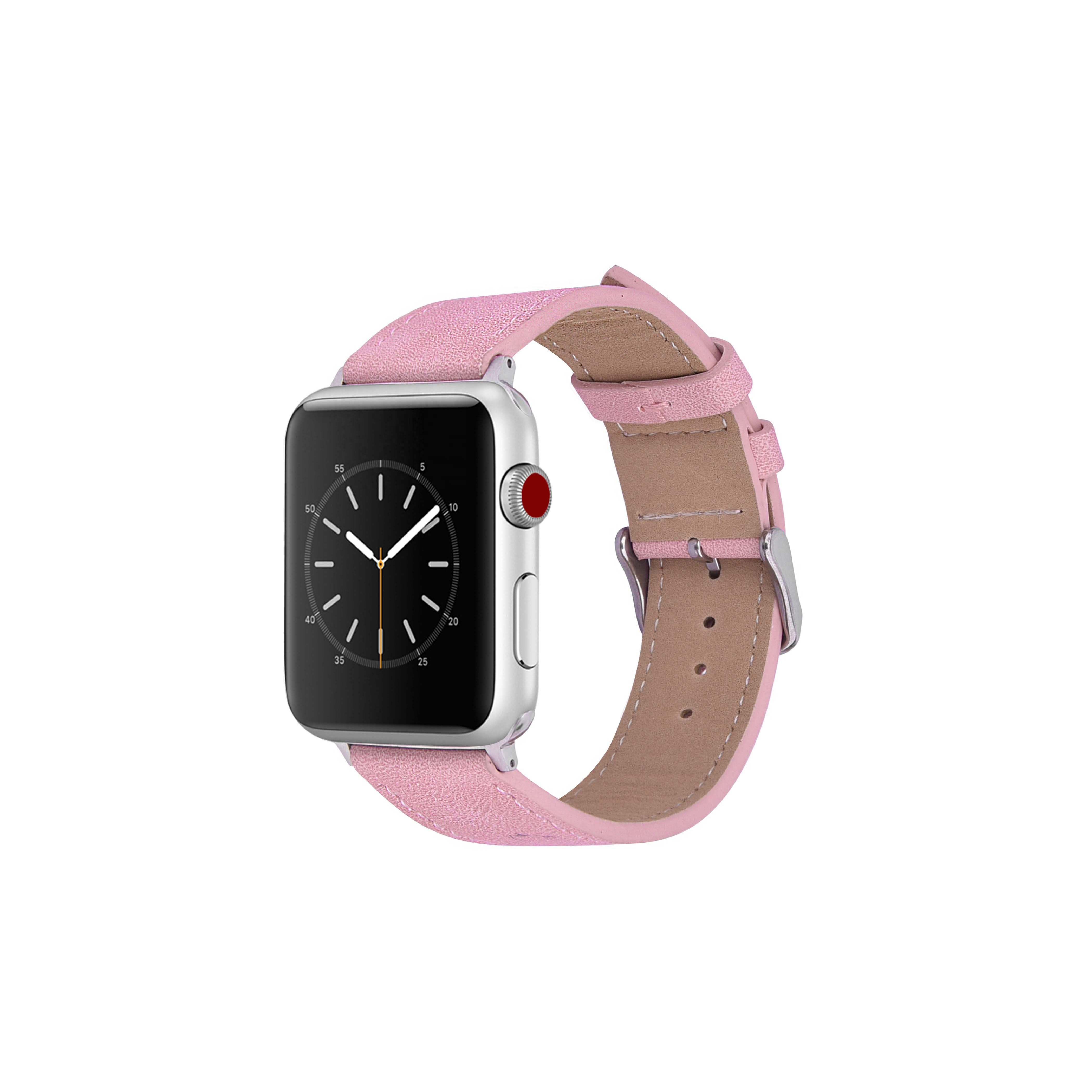 Solid Color Smart Watch Band Strap 38/40 42/44, Soft High Quality  Woman Fashion  Leather  Watch Strap for Apple Watch 4 3 2 1