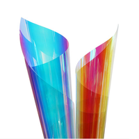 1.38x30m eco-friendly PET material dichroic rainbow iridescent window glass decorative film