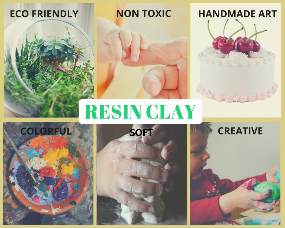 Non Bake Playdough Modeling Resin Clay Products