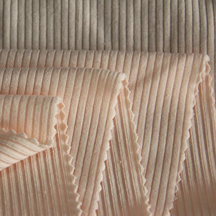 Knitted CVC spandex 4x2 rib knit fabric for winter dress-18003754