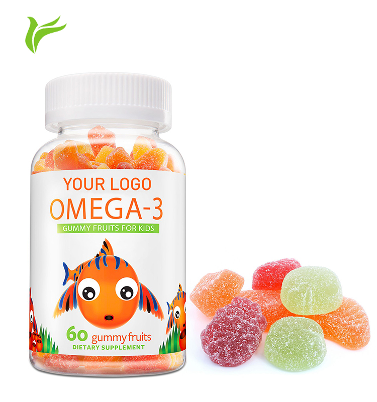 GMP Certified Heakth Supplement Omega 3 Gummy Candy for Hair