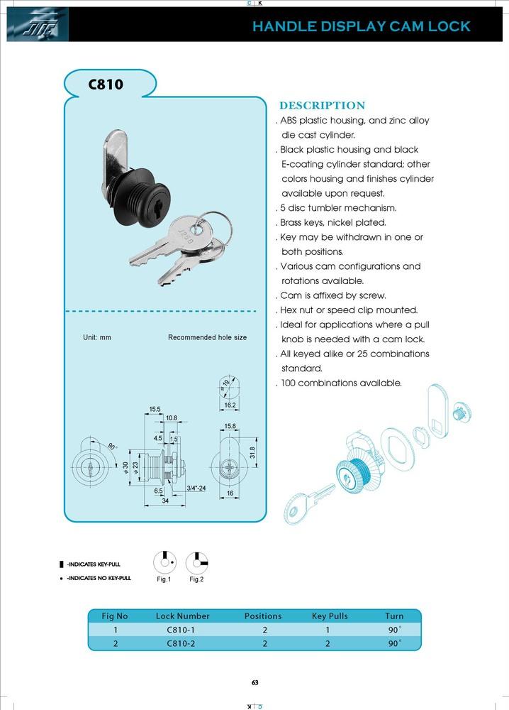 OEM ABS Sliding Glass Cabinet Door Push Lock