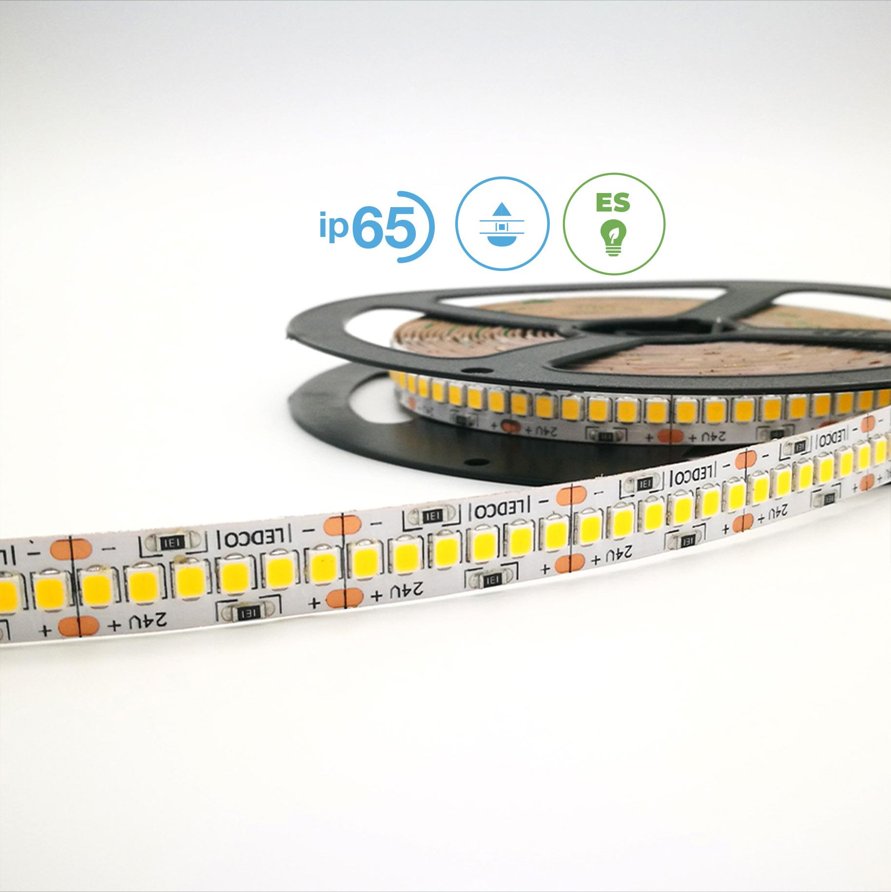 LED Strip Lights Energy Saver 2835 240 led - IP 65 - 5500 K Cold White - 5 meters - 12 W/mt